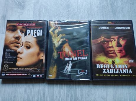 Nowe, zafoliowane DVD - 7zł/szt. + gratis