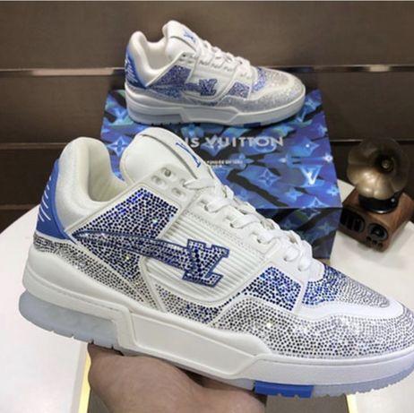 Buty Louis Vuitton Biale Niebieskie