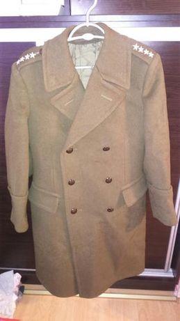 płaszcz wojskowy sukienny stan idealny zimowy wojsk lądowych kapitan