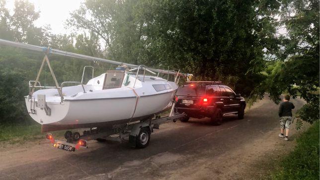 Jacht micro pol, łódź kabinowa+przyczepa zarejestrowana ubezpieczona