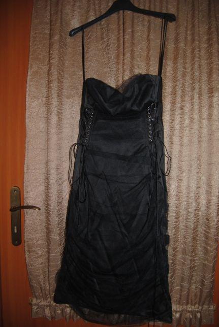 Sukienka elegancka mała czarna rozmiar 36-38