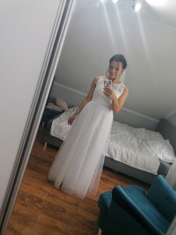 Suknia ślubna rozmiar 38 + welon gratis