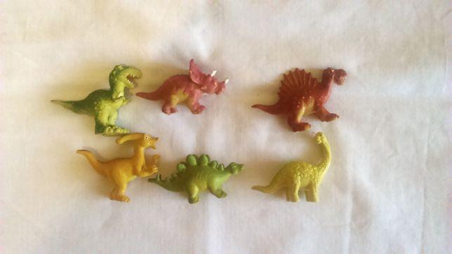 Фигурки динозавров, набор 6 штук, малыши