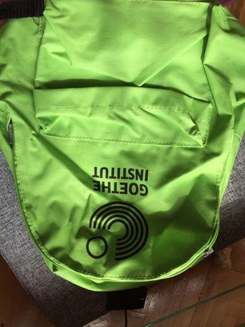 nowy plecak zielony