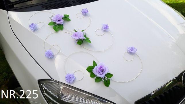 Piękna wrzosowa dekoracja na samochód/NOWA/KOLORY/ślub/wesele