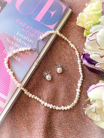 Ожерелье из натурального пресноводного жемчуга