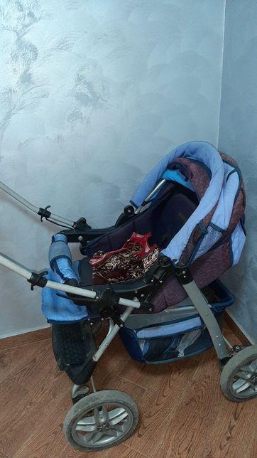 Дитячий візок синій
