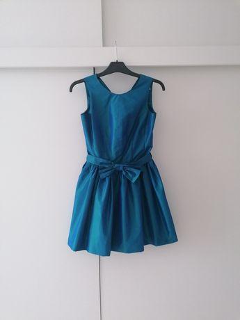 Sukienka z mieniącego się materiału