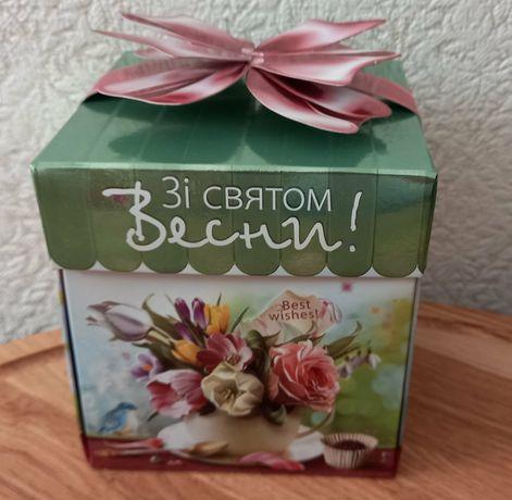 Коробки с орехами, подарочные коробки, подарок к 8 марта