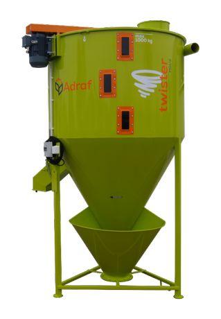 Mieszalnik pasz Twister 1T Adraf, mieszalnik 1000kg, nowy, gwarancja