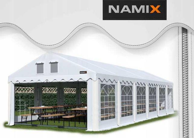 Namiot GRAND 8x12 ogrodowy imprezowy garaż wzmocniony PVC 560g/m2
