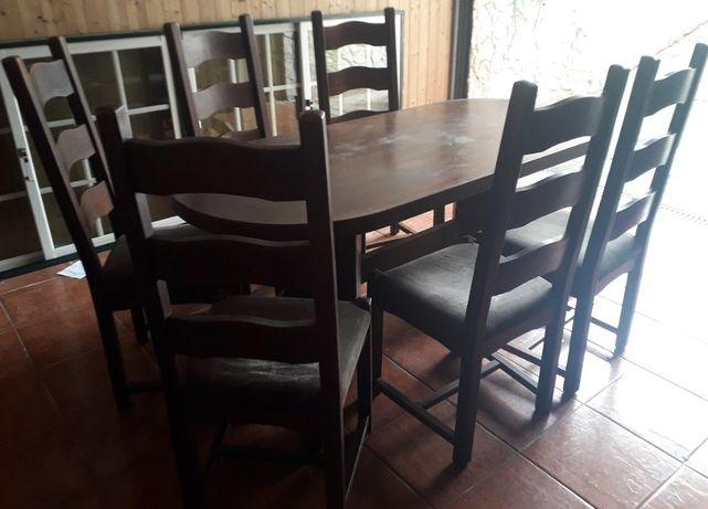 Mesa de Sala Jantar + 6 Cadeiras