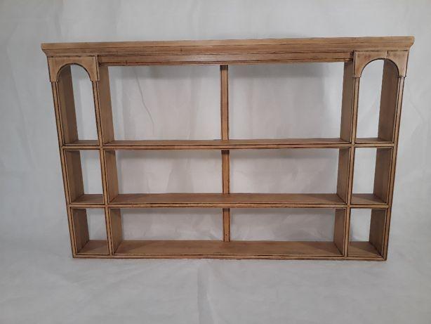 Drewniany regał, półka, przepierzenie stary, zabytkowy