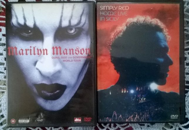 DVD Marylin Manson,Simply Red