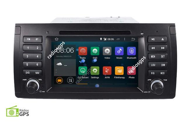 Auto Rádio BMW E39 E53 X5 GPS, Multimédia, Mãos livres, Wifi - ANDROID
