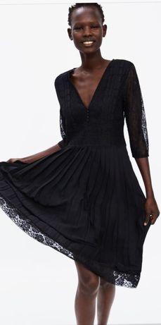 платье zara с плиссировкой s/m