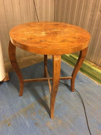 Stół okrągly stolik kawowy ława prl