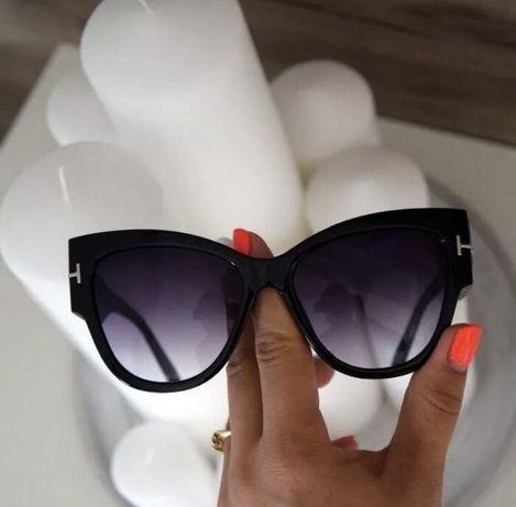 Nowe okulary przeciwsloneczne tom ford czarne kocie oczy hit