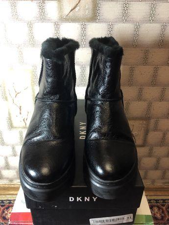 Кожаные зимние ботинки, лакированые ботинки,натуральная кожа