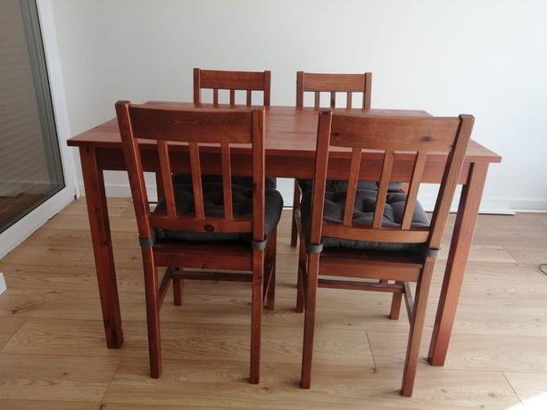 Stół i 4 krzesła - lita sosna