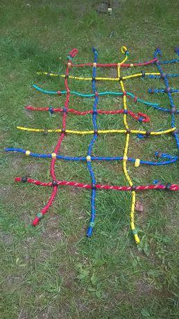 plac zabaw siatka do wspinaczki wspinaczkowa małpi gaj 1x2 m gruba lin