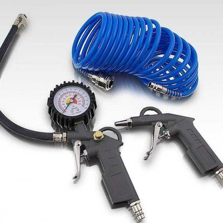 Akcesoria do sprężarki z manometrem (3 elementy)