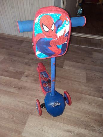 Самокат Человек-паук новый