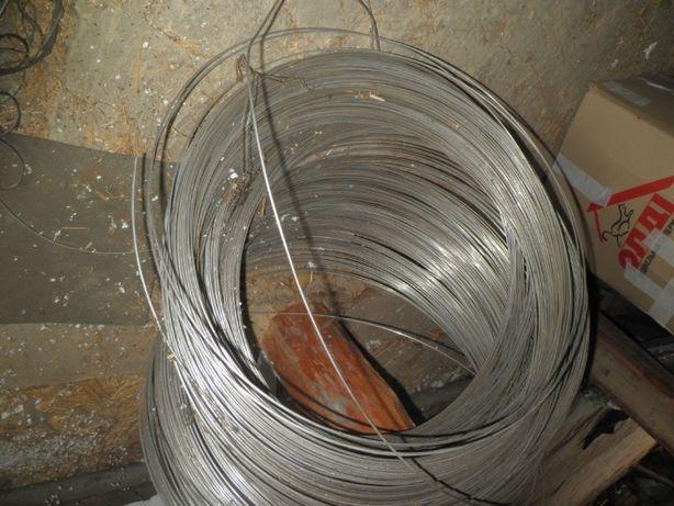 Голый провод = проволока нержав Ду 3мм Длина -400м 42кг Новый