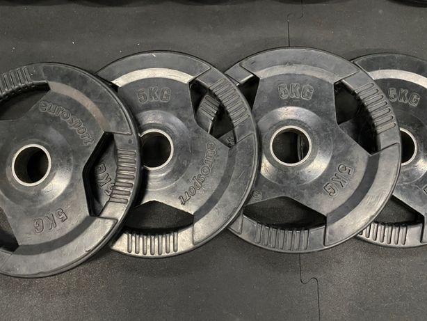 Talerz olimpijski, obciążenie metalowe gumowane 5kg