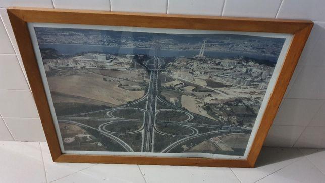 Quadro Fotografia aérea do nó de Almada