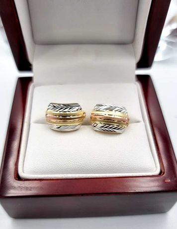 585 Cudne złote kolczyki * złoto 3 kolory
