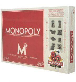 Настольная игра Монополия Юбилейный выпуск 8О лет оригинал Hasbro B062