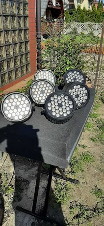 Oświetlenie zespół DJ klub LED PAR RGB UV DMX Light4Me L4M