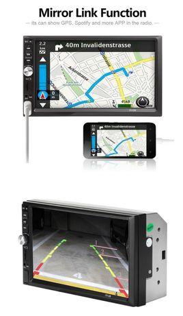 """Auto rádio 2DIN 7"""" Bluetooth, cartão memória, USB etc"""