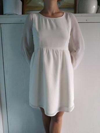 Szyfonową sukienka z satynowa podszewką Zara