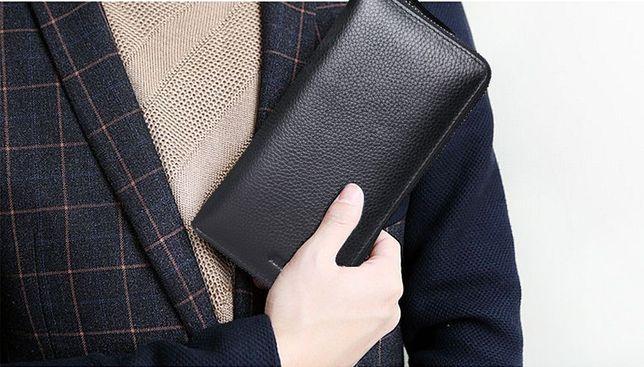 КОЖАНЫЙ мужской клатч кошелек портмоне из натуральной кожи