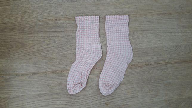 Капроновые носки гольфы в клетку девочке, р 36-39