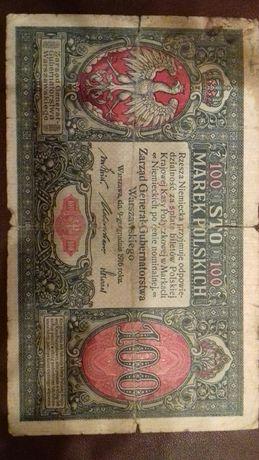 Banknot 100 marek 1916