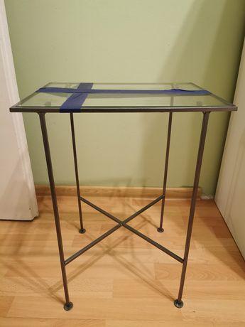 Stolik szklany blat 42x32x55 cm