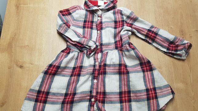 Sukienka w kratkę H&M r.86