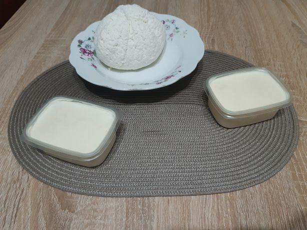Ser i masło z mleka krowiego