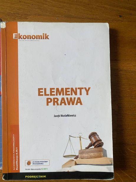 Elementy prawa - J. Musiałkiewicz - Ekonomik - wydanie 2015r.