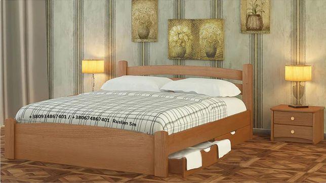 Прованс. Кровать из цельного массива дерева. Ольха.