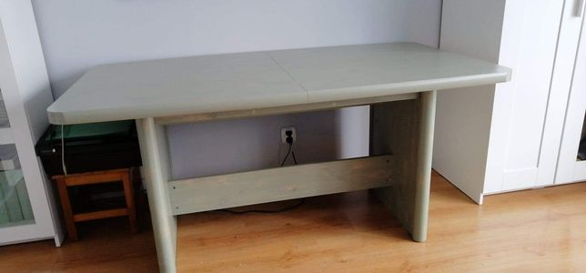 Stół BRW RETRO sosna zielona-rozkładany