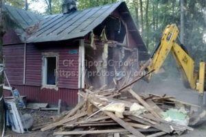 демонтаж помещений , домов,