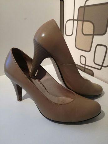 Buty szpilki skóra pantofle skórzane r. 39