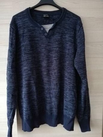 Sweter męski marki SMOG. Granatowy melanż. Jak nowy. Rozmiar M