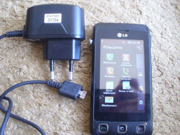 telefon; LG KP500; jako uszkodzony