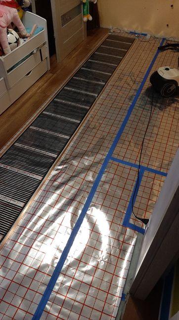 Grzejnik-Folia grzejne 80w/m pod panele podlogowe 50cm szeroka