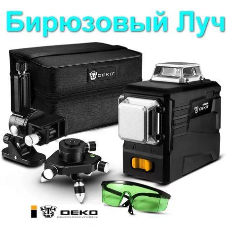 ! Бирюзовый луч! DEKO 3D Лазерный уровень нивелир 12 линий Makita